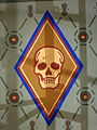 Saint Aloysius Church (Bowling Green, Ohio) - sanctuary mural detail, skull.jpg