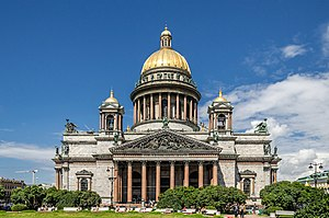 Saint Isaac's Cathedral - The cathedral is a Late Neoclassical interpretation of a Byzantine Greek-cross church