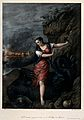 Saint Margaret. Coloured lithograph by G. Sensi y Baldachi a Wellcome V0033510.jpg