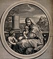 Saint Mary (the Blessed Virgin) with the Christ Child and an Wellcome V0034084.jpg