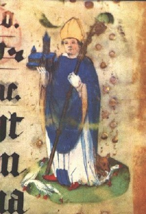 Ludger - Saint Ludger from an illuminated manuscript