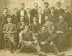 Учители в Солунската мъжка и Солунската търговска гимназия, 1908 г.