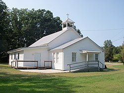 Salt Fork Baptist Church in the northwest corner of the township