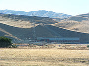 The San Luis Dam near Los Banos, California is an embankment dam.