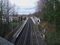 Sanderstead station high northbound from road bridge.JPG