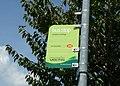 Sandown Sidings Perowne Way bus stop flag.JPG