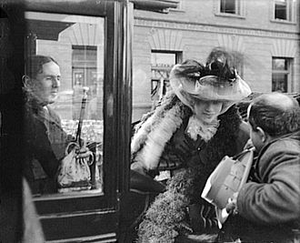 Ashton Stevens - In April 1906 Ashton Stevens (left) escorted actress Sarah Bernhardt through the ruins of San Francisco after the earthquake and fire  Photograph by Arnold Genthe