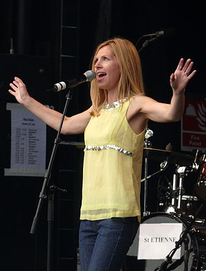 Sarah Cracknell - Cracknell performing with Saint Etienne at Rise Festival in London, July 2007