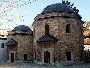 Türbe - The türbe of Gazi Husrev-beg (1480–1541) at the Gazi Husrev-beg Mosque in Sarajevo
