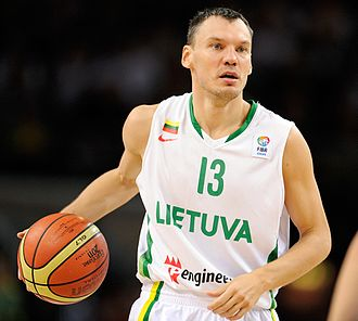 Šarūnas Jasikevičius - Jasikevičius with the Lithuania men's national basketball team