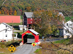 Saville Covered Bridge - Image: Saville PA C Bridge 1