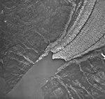 Sawyer Glacier, terminus of tidewater glacier and trimline, August 27, 1968 (GLACIERS 5887).jpg