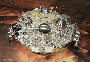 Schiaparelli EDM lander - Model of Schiaparelli lander at ESOC (2016)