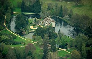 Scotney Castle - Aerial view of the castle