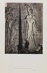 Sculptures in the Great Temple, Philae (3588100191).jpg