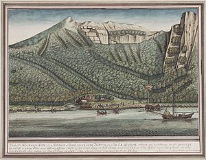 Butterworth Squadron - Butterworth Expedition Sealing Camp on Staten Island, Drawing by Sigismund Bacstrom