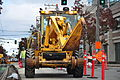 Seattle - laying trolley tracks on Broadway at James 08.jpg
