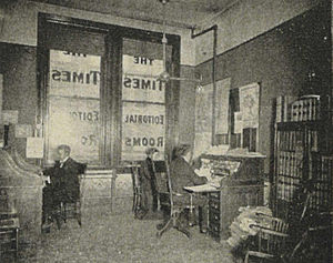 Editor-in-chief - The room of the editor-in-chief for the Seattle Daily Times in 1900