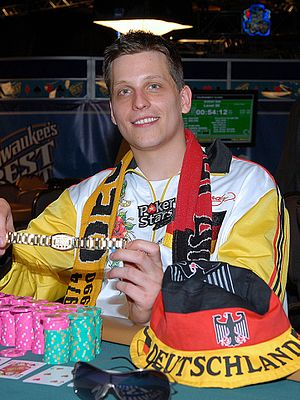 Sebastian Ruthenberg - Ruthenberg after winning the $5,000 Seven Card Stud Hi-Low World Championship in 2008
