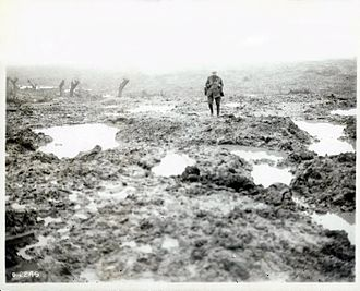 Second Battle of Passchendaele - Image: Second Battle of Passchendaele Field of Mud