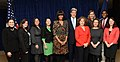 Secretary Kerry, First Lady Obama, Mrs. Heinz Kerry with participants from the first Department of State Tweetup.jpg