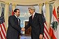 Secretary Kerry Shakes Hands With Former Lebanese Prime Minister Saad Hariri.jpg