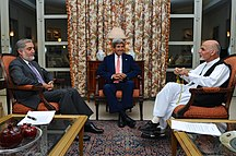 Afghanistan-Elections and parties-Secretary Kerry meets Abdullah and Ghani 2014