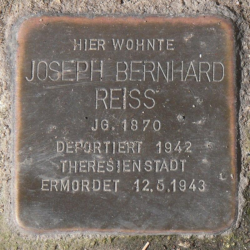 Segnitz Stolperstein Reiss, Josef Bernhard.jpg