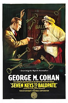Sep Ŝlosiloj al Baldpate 1917 poster.jpg