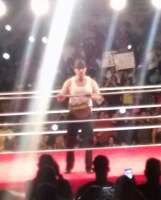World Wrestling League - Shane Sewell as the WWL World Heavyweight Champion.