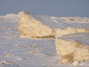 Shelf ice - Shelf ice along the southern Lake Michigan Shoreline at Indiana Dunes National Lakeshore