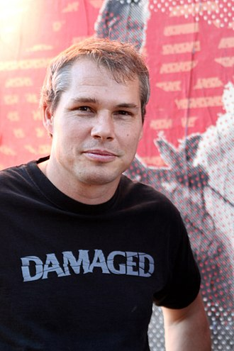 Shepard Fairey - Fairey at the 2011 installation of THE BLACK HILLS ARE NOT FOR SALE in Los Angeles