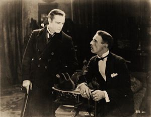 Sherlock Holmes (1922 film) - John Barrymore and Roland Young