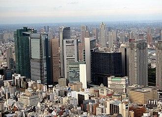 Minato, Tokyo - The skyscrapers of Shiodome in Minato Ward