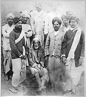 Sai Baba of Shirdi - Shirdi Sai Baba with some devotees