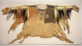 Buckskin (leather) - Shirt for Chief's War Dress, 19th century, Sioux, Brooklyn Museum