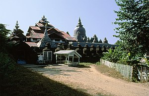 Shite-thaung Temple - Image: Shittaung Pagoda, Mrauk U 0002
