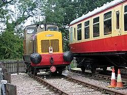 Shunter at Whitwell & Reepham railway station (geograph 3154317).jpg
