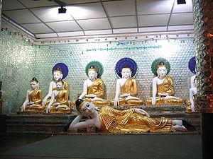 Buddhahood - Buddha statues at Shwedagon Pagoda