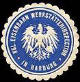 Siegelmarke Königliche Eisenbahn Werkstätteninspection in Harburg W0229539.jpg