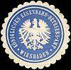 Siegelmarke Königliches Eisenbahn - Betriebs - Amt - Wiesbaden W0221169.jpg