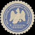Siegelmarke K.Pr. Ingenieur und Pionier-Corps 2. Pionierinspecktion W0379364.jpg