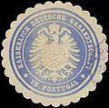 Siegelmarke K. Deutsche Gesandtschaft in Portugal W0344908.jpg