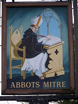 Sign for the Abbots Mitre - geograph.org.uk - 1191380