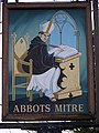 Sign for the Abbots Mitre - geograph.org.uk - 1191380.jpg
