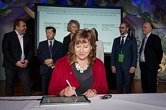 Digital 9 - The signing of the D7 Charter in Wellington, New Zealand in 2018
