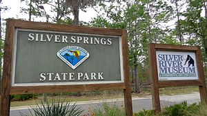 Silver Springs, Florida - Image: Silver Springs State Park Silver River Museum Entrance Sign