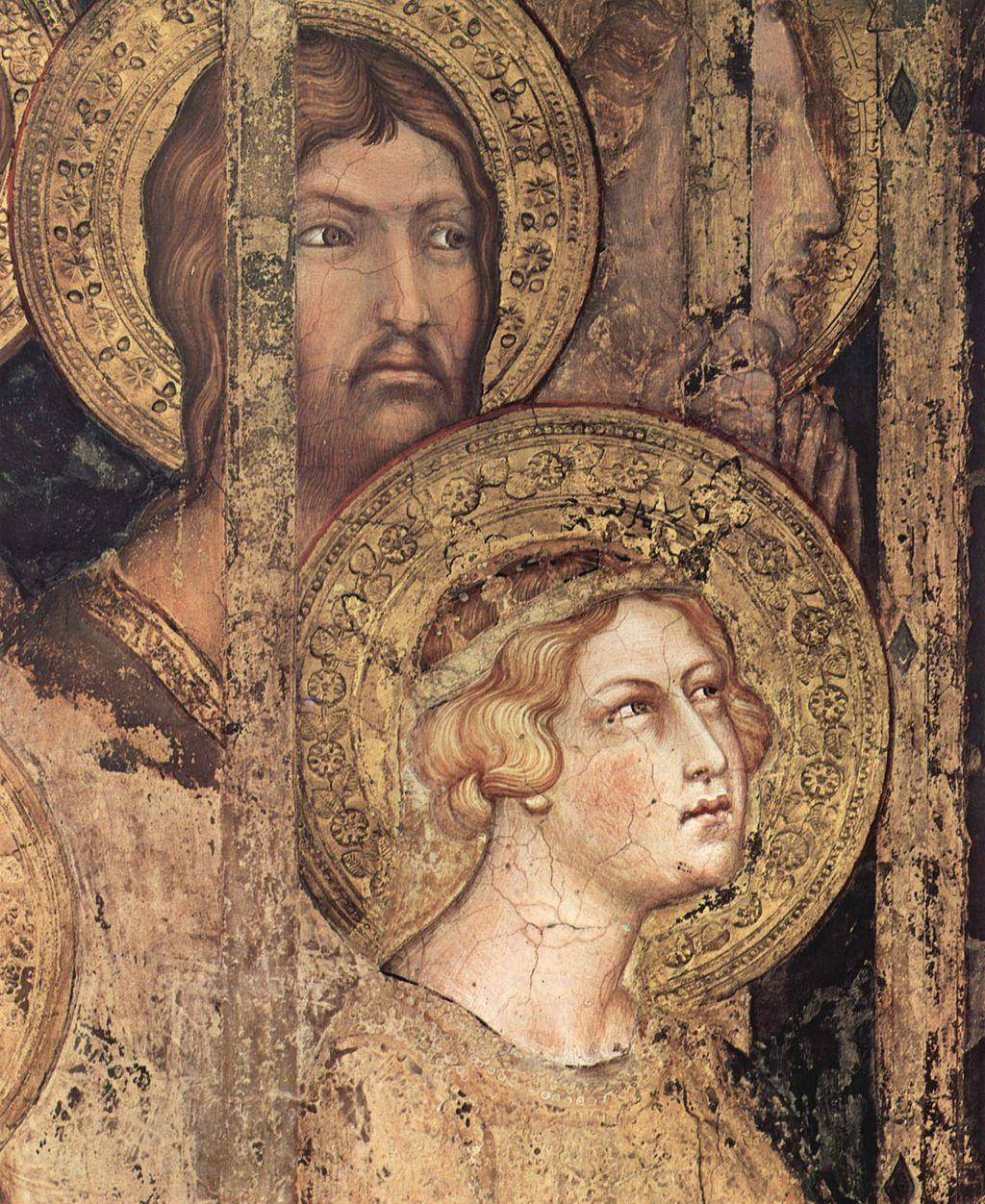 Simone Martini, Maestà, particolare (Madonna with Angels and Saints, detail), 1312 - 1315, Palazzo Pubblico, Siena