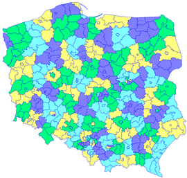 Single member constituencies - elections to the Senate of Poland.png