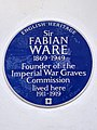 Sir Fabian Ware 1869-1949 Founder of the Imperial War Graves Commission lived here 1911-1919.jpg